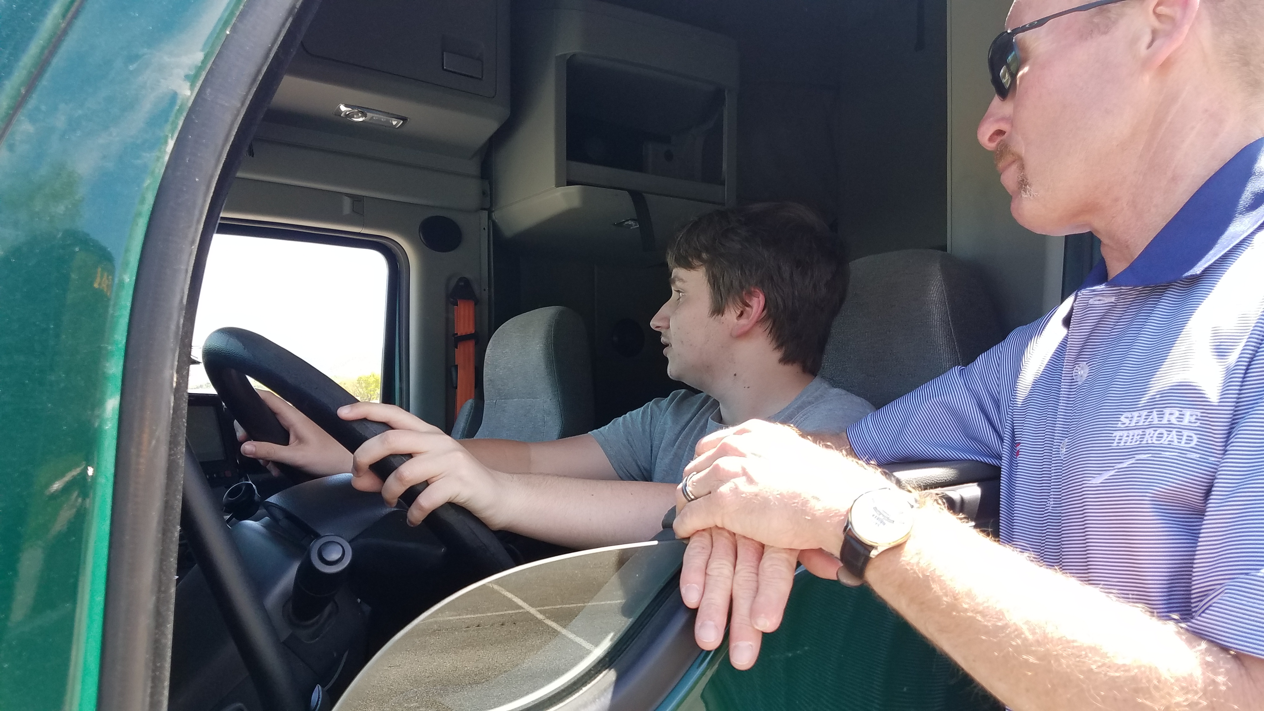 Share the Road Demonstrations by Professional Truck Driver, Jim Clark.